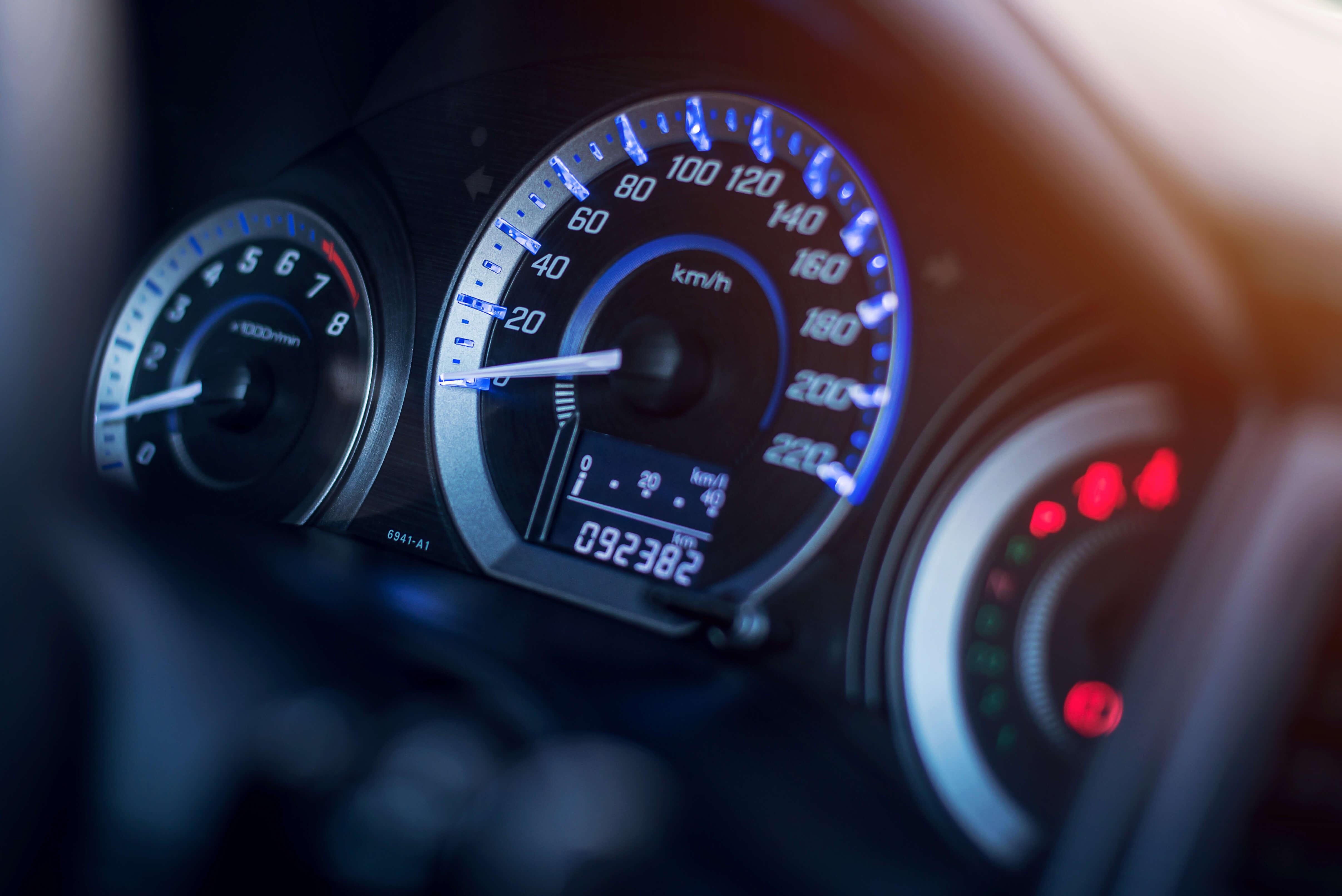 Recording motor vehicle odometer for FBT